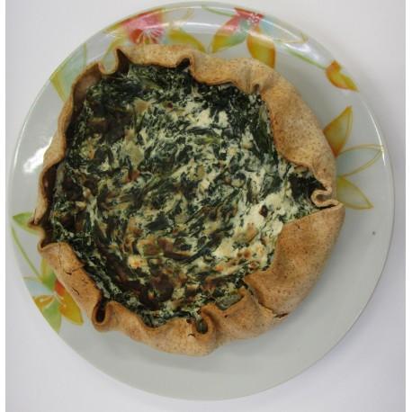 Torta salata ricotta e spinaci 600g